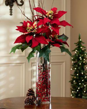 La fleur de no l ou toile rouge le poinsettia - Decoracion navidena artesanal ...